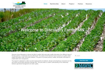 Discovery Farms Minnesota redesigned website with updated real time data access