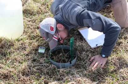 Discovery Farms Spring soil health sample collection