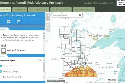 Minnesota's Runoff Risk Advisory Forecast website